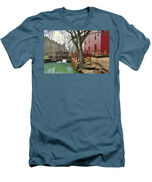 Men's T-Shirt (Slim Fit) featuring the photograph Alley Spring Mill 34 by Marty Koch