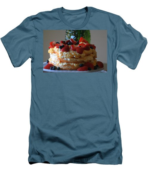 Men's T-Shirt (Slim Fit) featuring the photograph Angel Food by Kay Novy