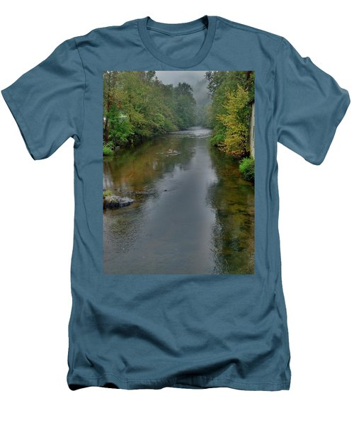 Men's T-Shirt (Slim Fit) featuring the photograph Appalachian Trail by Janice Spivey