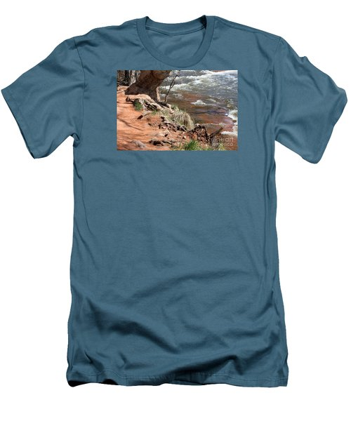 Men's T-Shirt (Slim Fit) featuring the photograph Arizona Red Water by Debbie Hart