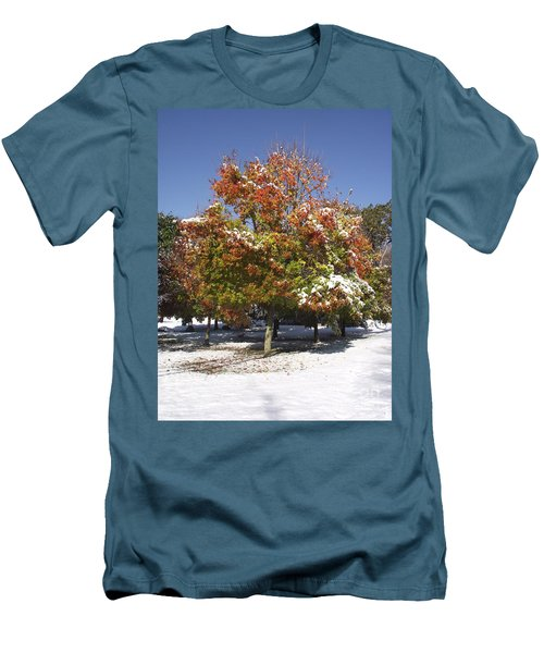 Autumn Snow Men's T-Shirt (Athletic Fit)