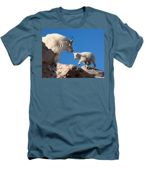 Men's T-Shirt (Slim Fit) featuring the photograph Baby Steps by Jim Garrison