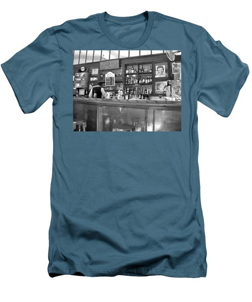 Men's T-Shirt (Slim Fit) featuring the photograph Bar In Old Havana by Lynn Bolt
