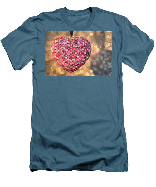 Bedazzle My Heart Men's T-Shirt (Athletic Fit)