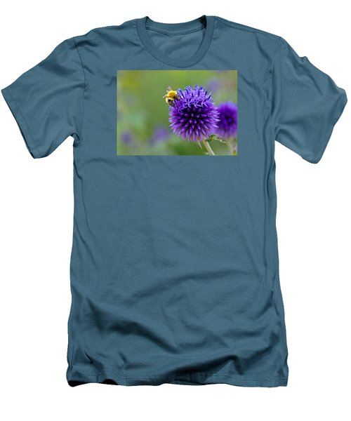 Bee On Garden Flower Men's T-Shirt (Athletic Fit)