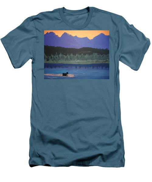 Men's T-Shirt (Slim Fit) featuring the painting Big Sky Country by Norm Starks