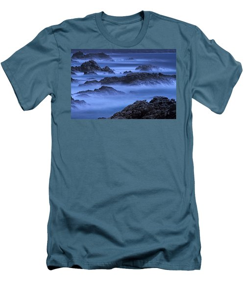 Men's T-Shirt (Slim Fit) featuring the photograph Big Sur Mist by William Lee