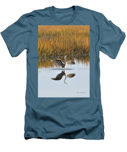 Men's T-Shirt (Slim Fit) featuring the photograph Bird Dance by Kay Lovingood