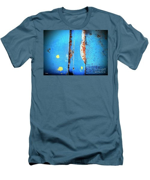 Blue Abstract Men's T-Shirt (Athletic Fit)