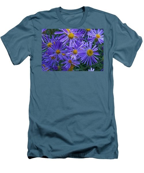 Blue Asters Men's T-Shirt (Athletic Fit)