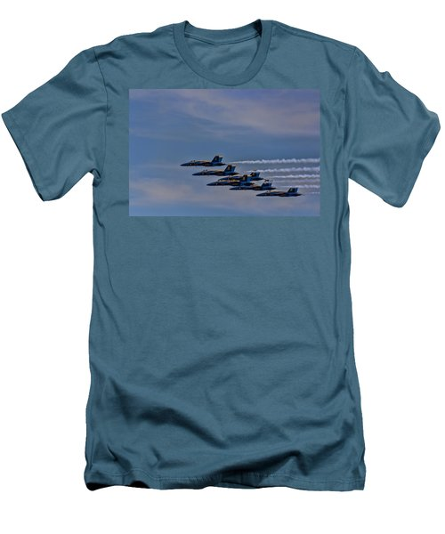 Men's T-Shirt (Slim Fit) featuring the photograph Blues by David Gleeson