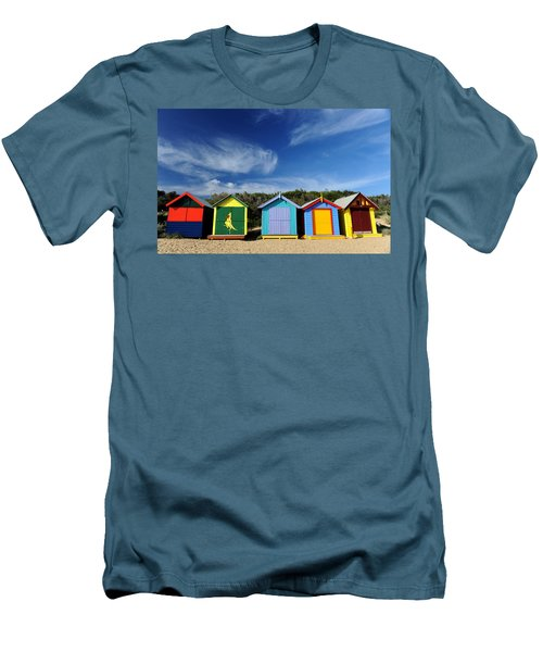 Men's T-Shirt (Slim Fit) featuring the photograph Brighton Beach by Yew Kwang