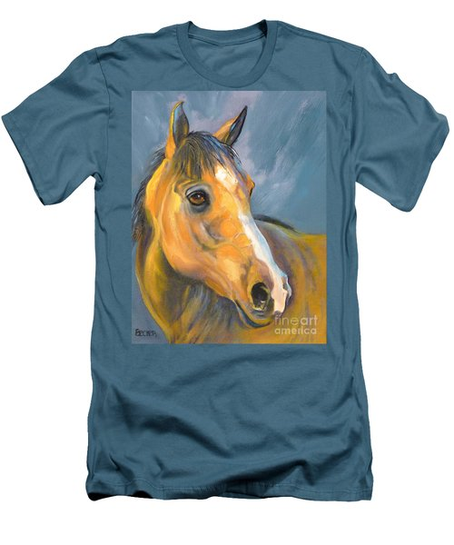 Buckskin Sport Horse Men's T-Shirt (Athletic Fit)