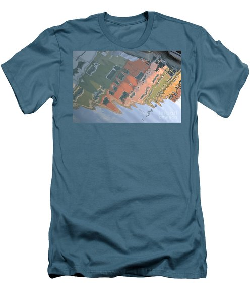 Men's T-Shirt (Slim Fit) featuring the photograph Burano House Reflections by Rebecca Margraf
