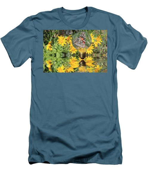 Butterfly In A Bulb II - Landscape Men's T-Shirt (Athletic Fit)