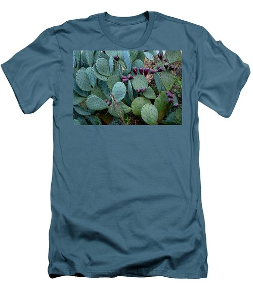 Men's T-Shirt (Slim Fit) featuring the photograph Cactus Plants by Maria Urso