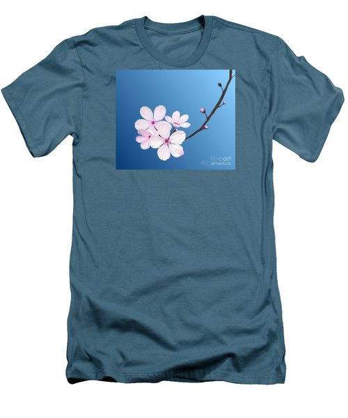 Cherry Blossoms Men's T-Shirt (Slim Fit) by Rand Herron