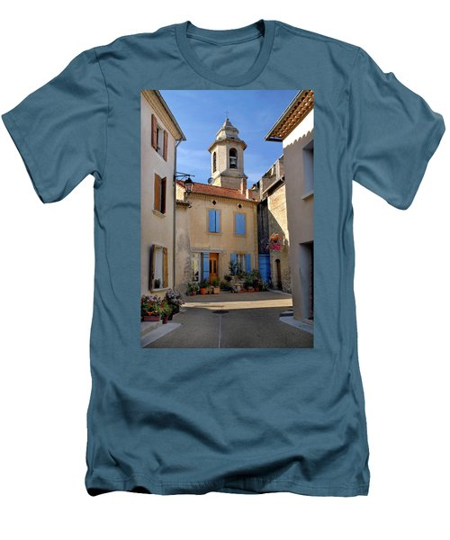 Men's T-Shirt (Slim Fit) featuring the photograph Church Steeple In Provence by Dave Mills
