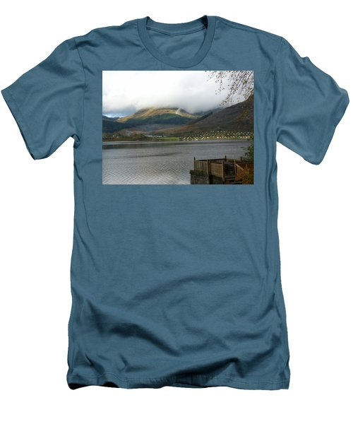 Men's T-Shirt (Slim Fit) featuring the photograph Cloud Over Beinn An Lochain by Lynn Bolt