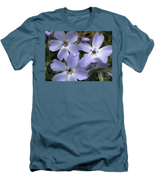 Creeping Phlox Men's T-Shirt (Slim Fit) by J McCombie