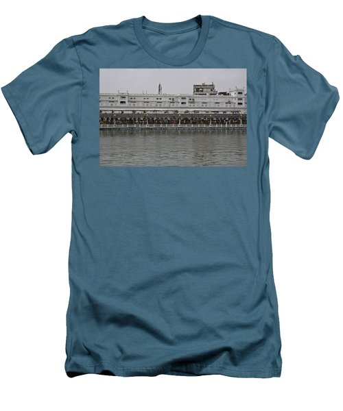 Crowd Of Devotees Inside The Golden Temple Men's T-Shirt (Slim Fit) by Ashish Agarwal