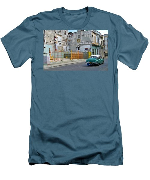 Men's T-Shirt (Slim Fit) featuring the photograph Cuba Vintage American Car  by Lynn Bolt