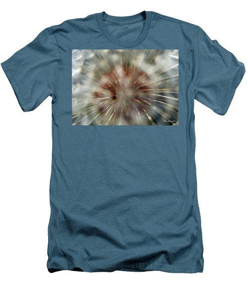 Men's T-Shirt (Slim Fit) featuring the photograph Dandelion Fluff by Kay Lovingood