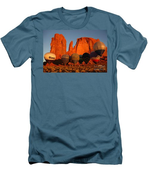 Dawn Flight In Monument Valley Men's T-Shirt (Slim Fit) by Vivian Christopher