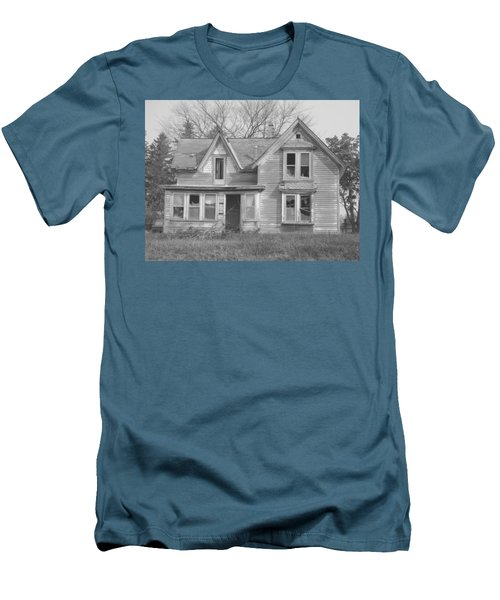 Men's T-Shirt (Slim Fit) featuring the photograph Defiance B/w by Bonfire Photography