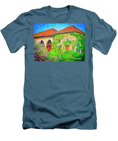 Men's T-Shirt (Athletic Fit) featuring the photograph Do-00530 Old House by Digital Oil