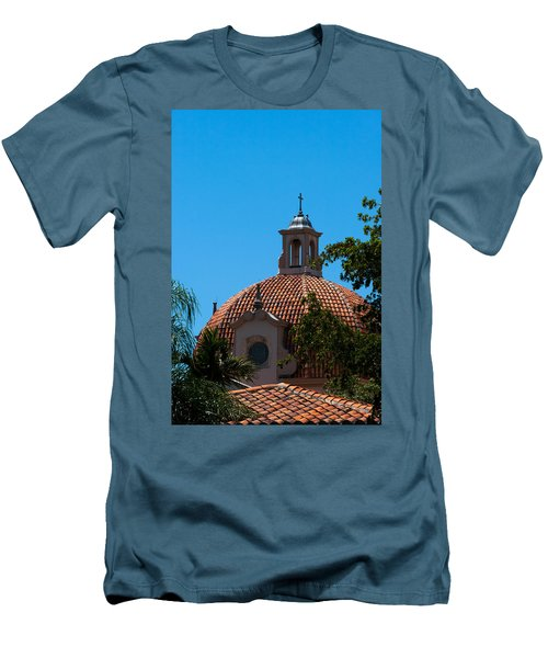 Men's T-Shirt (Slim Fit) featuring the photograph Dome At Church Of The Little Flower by Ed Gleichman
