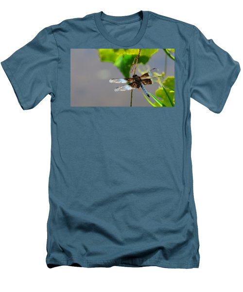 Men's T-Shirt (Slim Fit) featuring the photograph Dragonfly by Cindy Manero