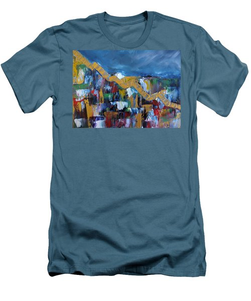 Economic Meltdown Men's T-Shirt (Slim Fit) by Judith Rhue