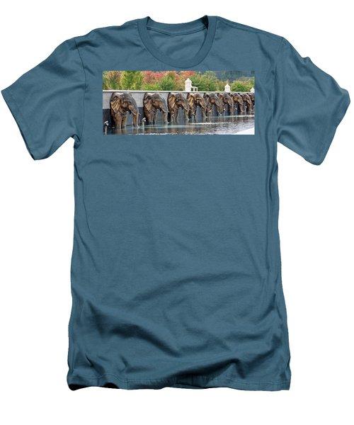 Elephants Of The Mandir Men's T-Shirt (Athletic Fit)