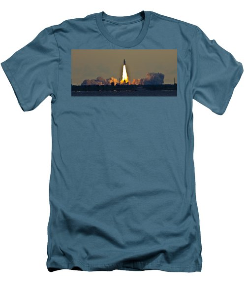 Endeavor Blast Off Men's T-Shirt (Slim Fit) by Dorothy Cunningham