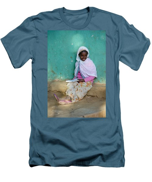 Ethiopia-south School Girl Men's T-Shirt (Athletic Fit)