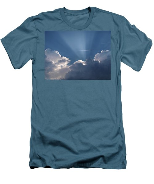 Even Through The Clouds You Will Find A Ray Of Sunshine Men's T-Shirt (Athletic Fit)