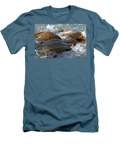 Men's T-Shirt (Slim Fit) featuring the photograph Fishing And Hunting by Elizabeth Winter