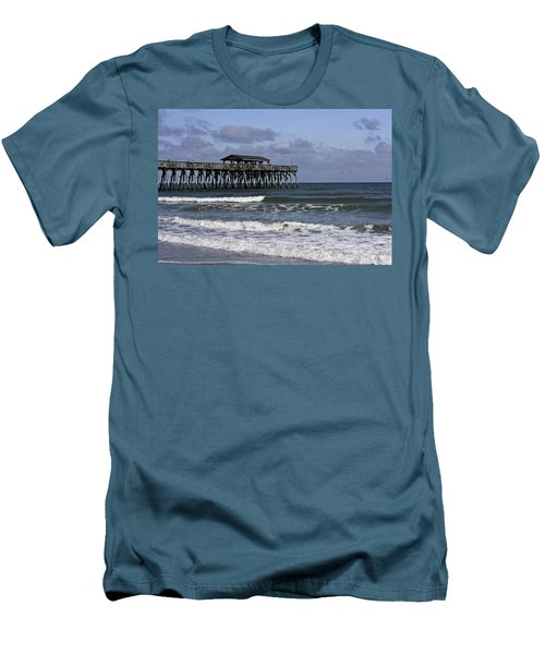 Fishing On The Pier Men's T-Shirt (Athletic Fit)