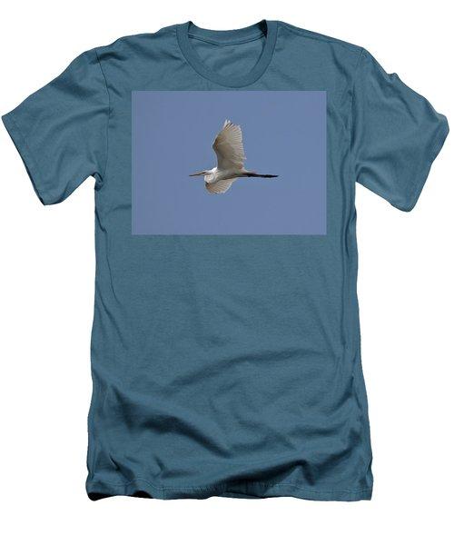 Flying Egret Men's T-Shirt (Slim Fit) by Jeannette Hunt