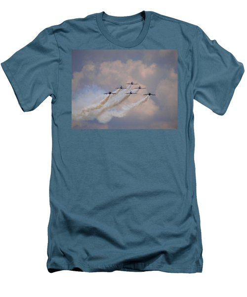Flying In Formation Men's T-Shirt (Slim Fit) by Julia Wilcox