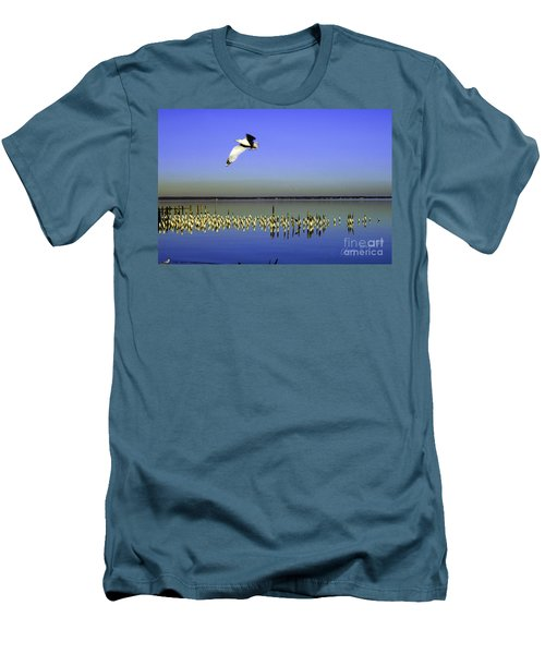 Men's T-Shirt (Slim Fit) featuring the photograph Flying Solo by Clayton Bruster