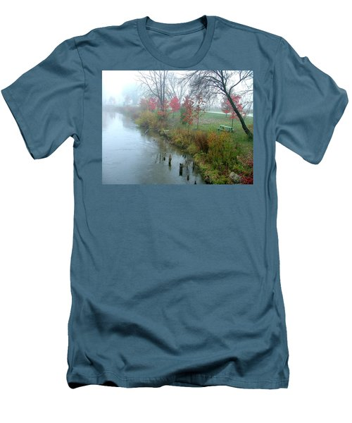 Fog On The Muskegon River Men's T-Shirt (Athletic Fit)