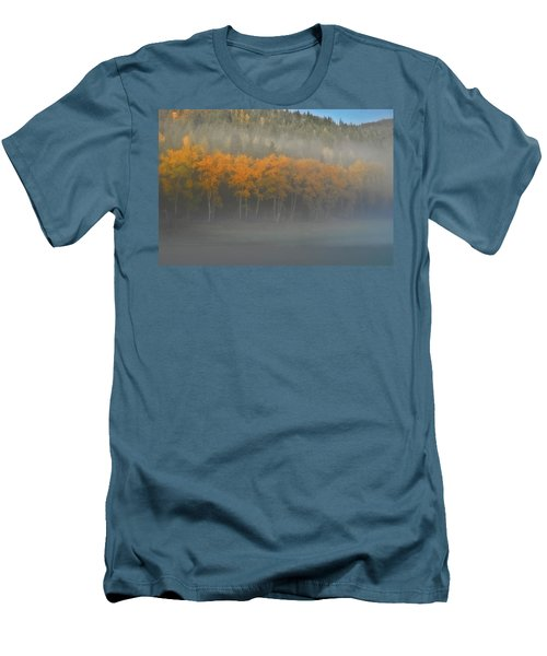 Foggy Autumn Morning Men's T-Shirt (Slim Fit) by Albert Seger