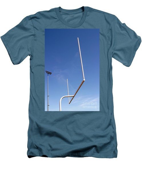 Men's T-Shirt (Slim Fit) featuring the photograph Football Goal by Henrik Lehnerer