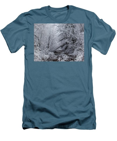 Men's T-Shirt (Slim Fit) featuring the photograph Forest Lace by Christian Mattison