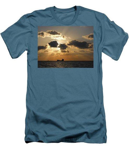Men's T-Shirt (Slim Fit) featuring the photograph Fort Lauderdale Sunrise by Clara Sue Beym
