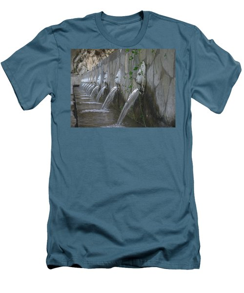 Men's T-Shirt (Slim Fit) featuring the photograph Fountain by David Gleeson