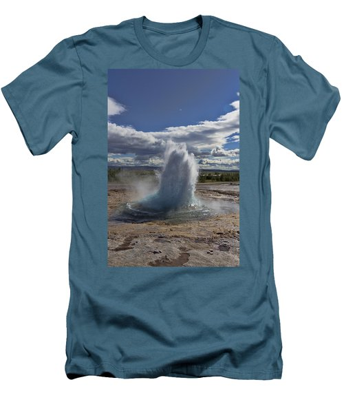 Men's T-Shirt (Slim Fit) featuring the photograph Geysir 2 by David Gleeson