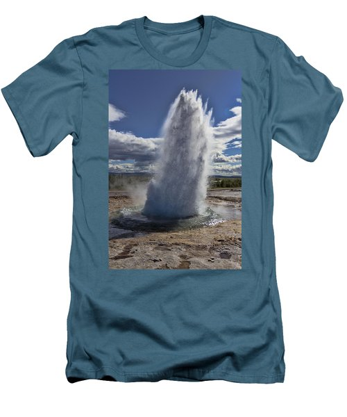Men's T-Shirt (Slim Fit) featuring the photograph Geysir 3 by David Gleeson